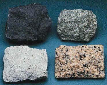 Tipos de rocas: igneas