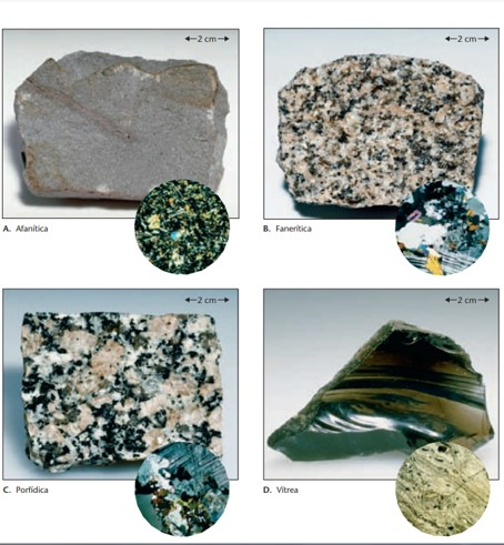 tipos de texturas igneas